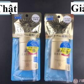 Cách phân biệt kem chống nắng Anessa Perfect UV Milk thật giả
