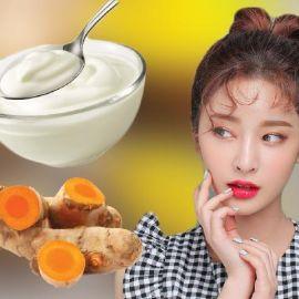 Cách làm mặt nạ nghệ sữa chua để trị mụn dưỡng trắng da