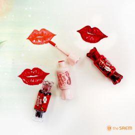 Review son kẹo vỏ hồng và vỏ đỏ The Saem Mousse (Jelly) Candy Tint