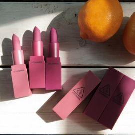 Review 3CE Matte Lip Color Supreme Violet Matte Shades & Swatch 3 màu mới