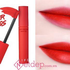 Review son It's Skin Life Color Lip Crush Matte 07