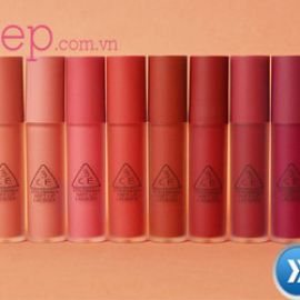 Review son kem 3CE Soft Lip Lacquer & Swatch full bảng màu son
