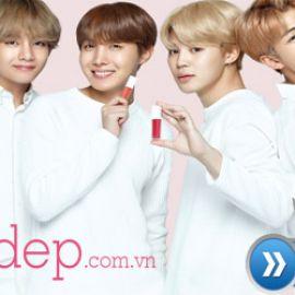 Review son Velvet Lip Lacquer sự kết hợp hoàn hảo giữa VT Cosmetics và nhóm nhạc BTS